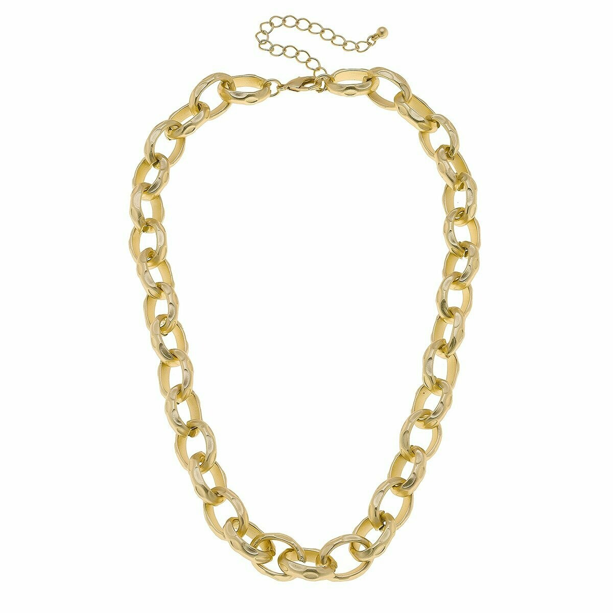 Chain Link Necklace in Matte Gold