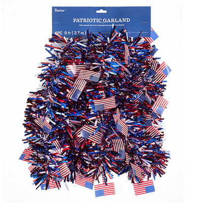 Red, white, and blue Tinsel Garland