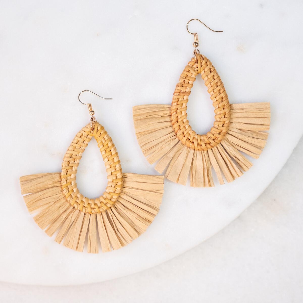 Domingo Raffia Earrings in Multi