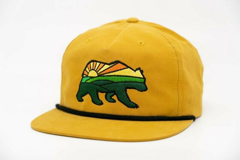 Prairie Bear Logo Hat Mustard