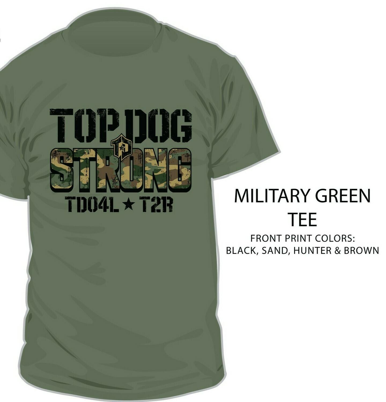 Shirt, Program Tee, Top Dog Strong Camo