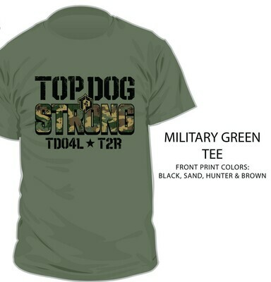 Shirt, Program Tee, Top Dog Strong Camo