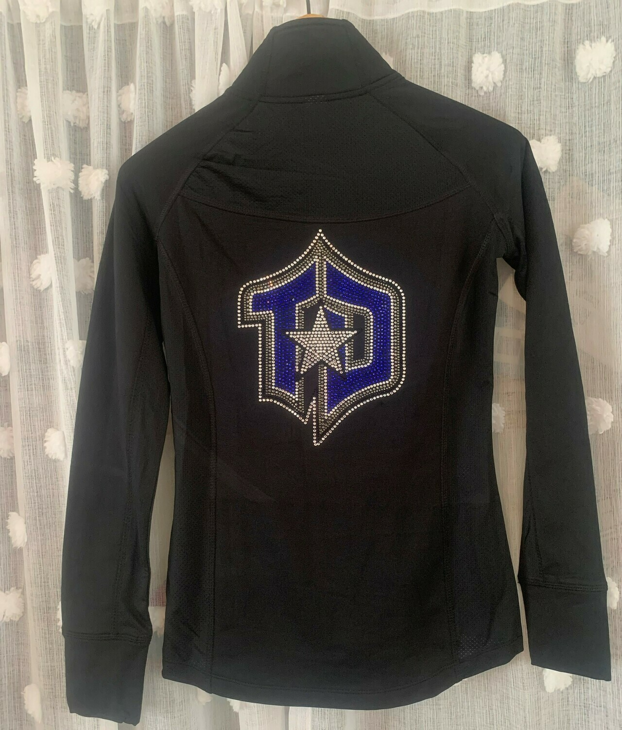 Ladies Studio Jacket with full back Rhinestone TD Logo