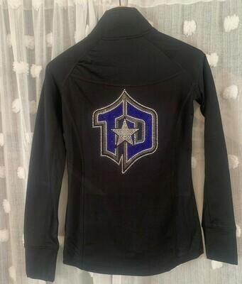 Ladies Studio Jacket with full back Rhinestone TD Logo