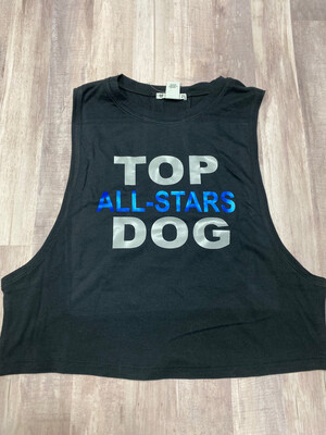 Crew Neck, Muscle Tank, Cropped, Black