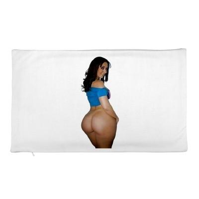 2 Big Butt Blue Pillow Cases