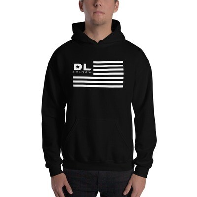 'Merica AF Black & White Hooded Sweatshirt
