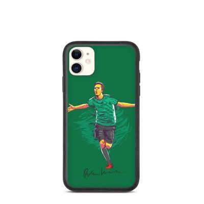Robert Ivanov Green Fire iPhone Case (Biodegradable)