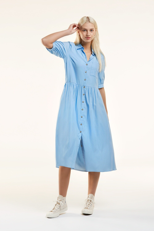 Senso 7576 Kleed/L Satina/blue