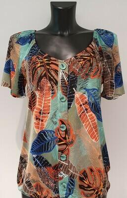 Batida 9010 T-shirt Aqua/orange