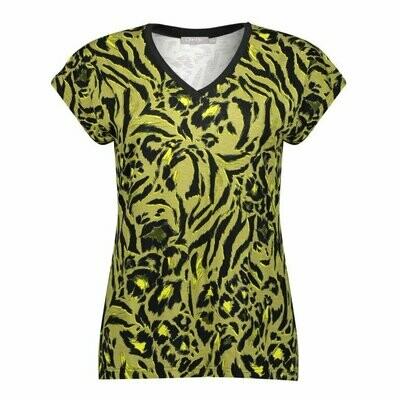 Geisha 13253 T-shirt army/yellow