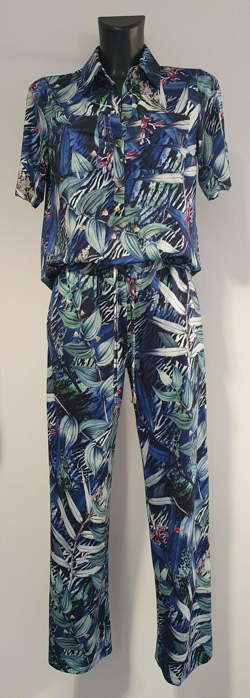 K-design S816 Broek + bloes 118/blauw