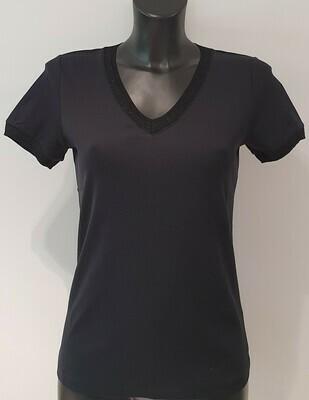 Green Ice Flanel T-shirt zwart