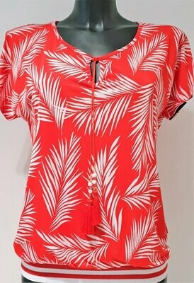 Batida 7660 T-shirt red/palmtree