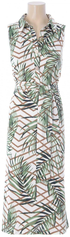 K-design Q878 Kleed/L 837 palm/groen