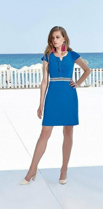 Batida 7735 Kleed blue/roi