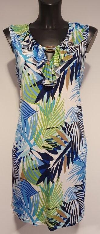 Batida 8361 Kleed blue/palm