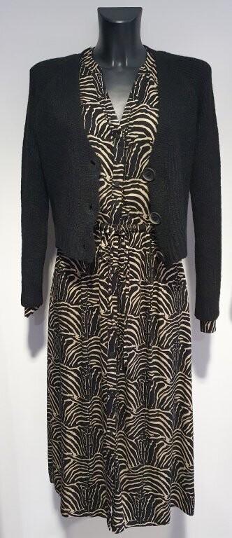 Geisha 7631 Kleed zwart/sand