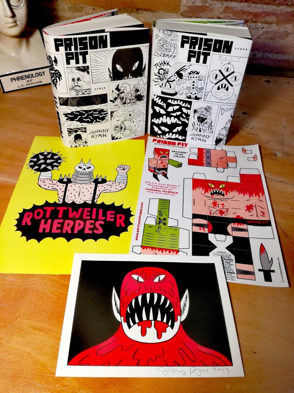 """Pack Prison Pit """"La série complète en édition collector + sérigraphie signée + Goodies"""""""