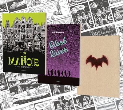 Josh Simmons: les 3 livres dédicacés + 4 affiches numérotées et signées.