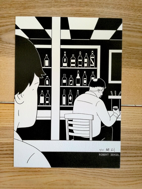 """Affiche """"Bar"""" par R. Sergel - numérotée et signée à 25 exemplaires"""