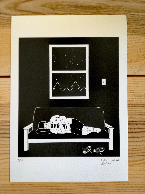 """Affiche """"Détresse """" par R. Sergel - numérotée et signée à 25 exemplaires"""