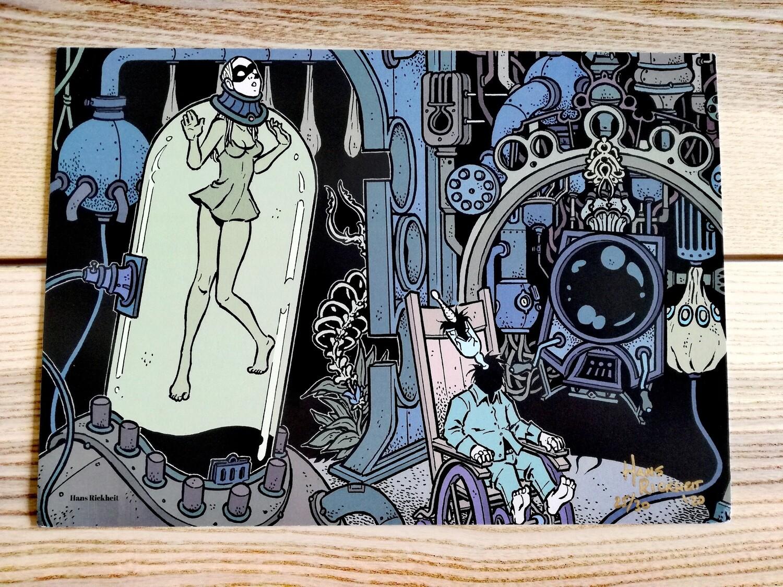 """Affiche """"Expériences """" par H. Rikheit - numérotée et signée à 30 exemplaires"""