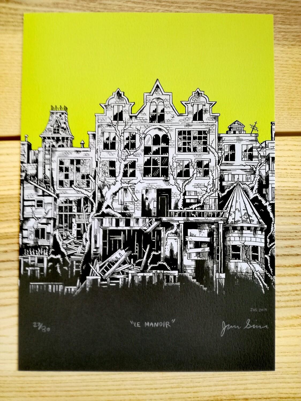 """Affiche """"Le Manoir """" par J. Simmons - numérotée et signée à 80 exemplaires"""