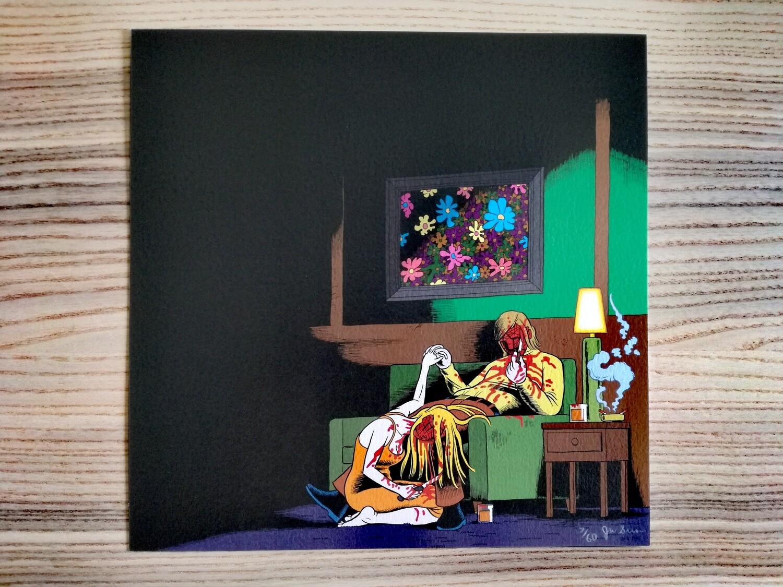 """Affiche """"Couple """" par J. Simmons - numérotée et signée à 80 exemplaires"""