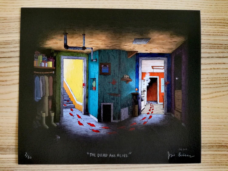 """Affiche """"Fury trap """" par J. Simmons - numérotée et signée à 80 exemplaires"""