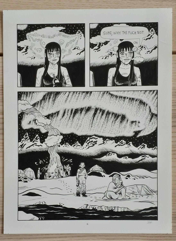 Planche originale 12 tirée du livre Black River (23x30cm)