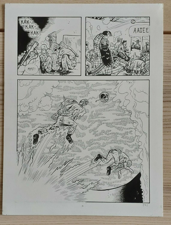 Planche originale 51 tirée du livre Black River (23x30cm)