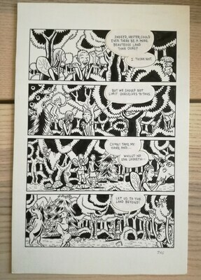 Planche originale (short stories collection: Fury Trap/Flayed Corpse. Editions Fantagraphics / USA (16,5x25,5cm) (2)