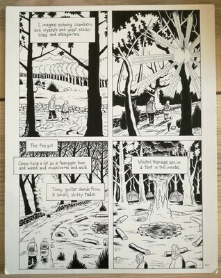 Planche originale (short stories collection: Fury Trap/Flayed Corpse. Editions Fantagraphics / USA (28x 35,5cm) (7)