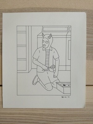 Dessin Original Robert Sergel 23x 26,3 cm