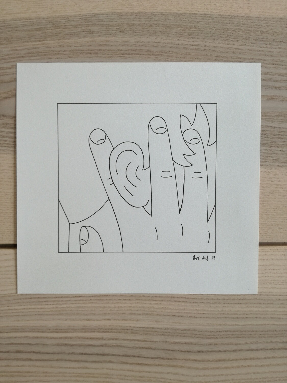 Dessin Original Robert Sergel 22,5x 21 cm