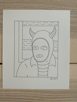Dessin Original Robert Sergel 19x 23 cm