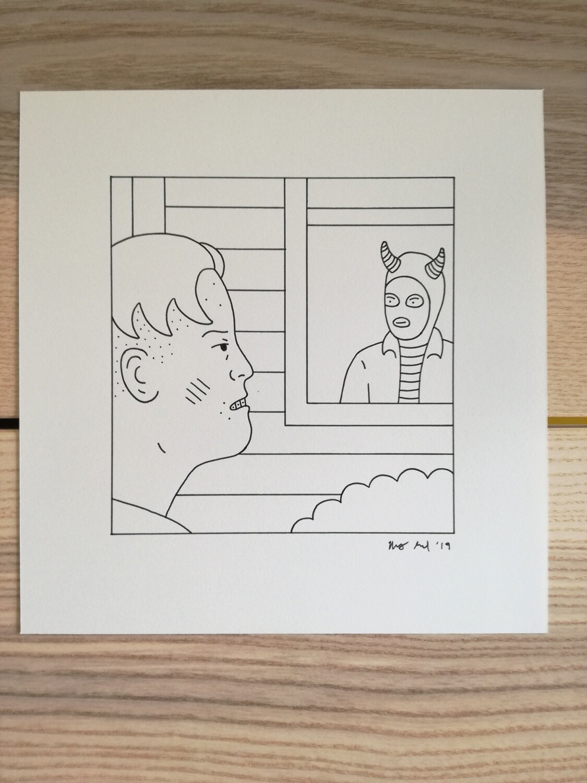 Dessin Original Robert Sergel 19,5x 20,5 cm