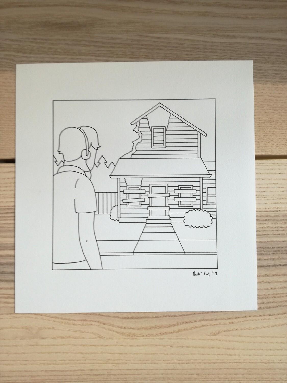 Dessin Original Robert Sergel 22x22,5 cm