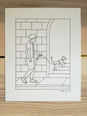 Dessin Original Robert Sergel 18,5x 23 cm