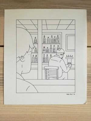 Dessin Original Robert Sergel 22,5x26,5 cm