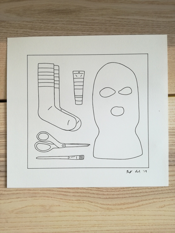Dessin Original Robert Sergel 22,5X 21,5 cm