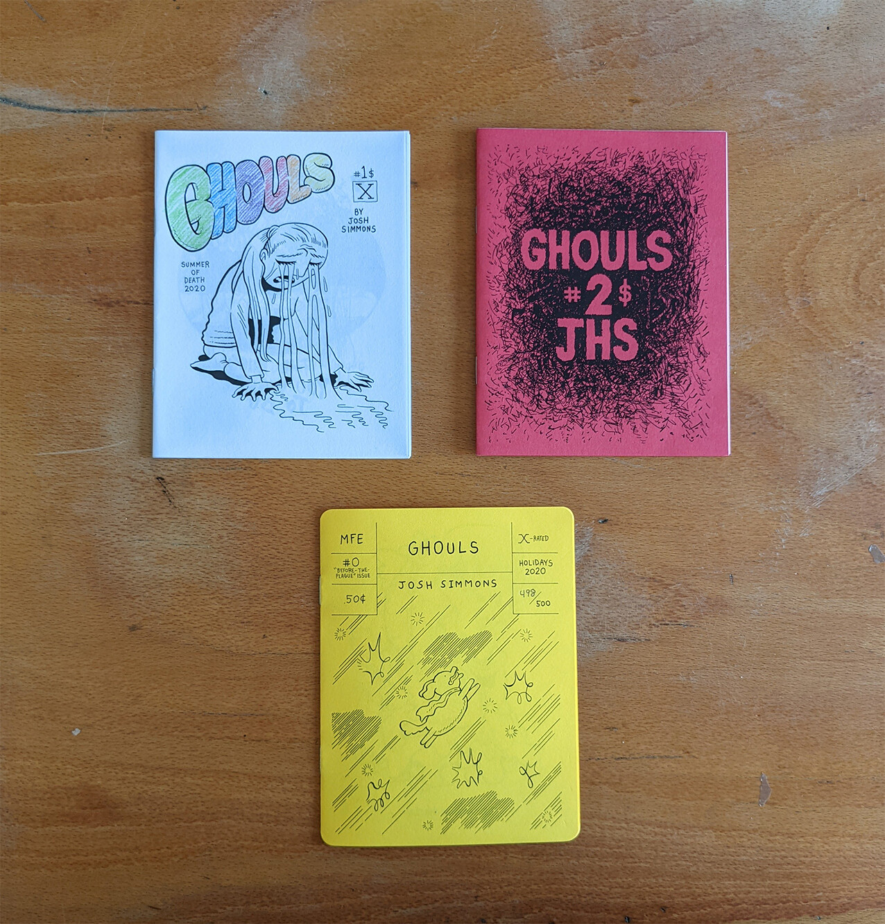 (langue anglaise) Ghouls # 1 à 3 par Josh Simmons