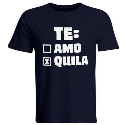 Te: amo – Tequila T-Shirt (Herren, Rundhals Ausschnitt)