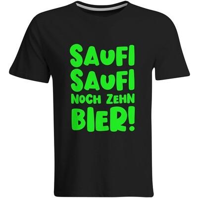 Saufi Saufi noch zehn Bier T-Shirt (Herren, Rundhals Ausschnitt)