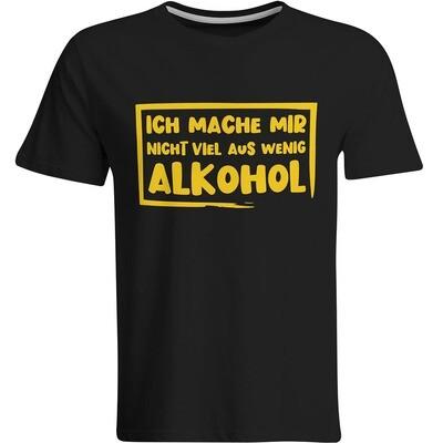 Ich mache mir nicht viel aus wenig Alkohol T-Shirt (Herren, Rundhals Ausschnitt)