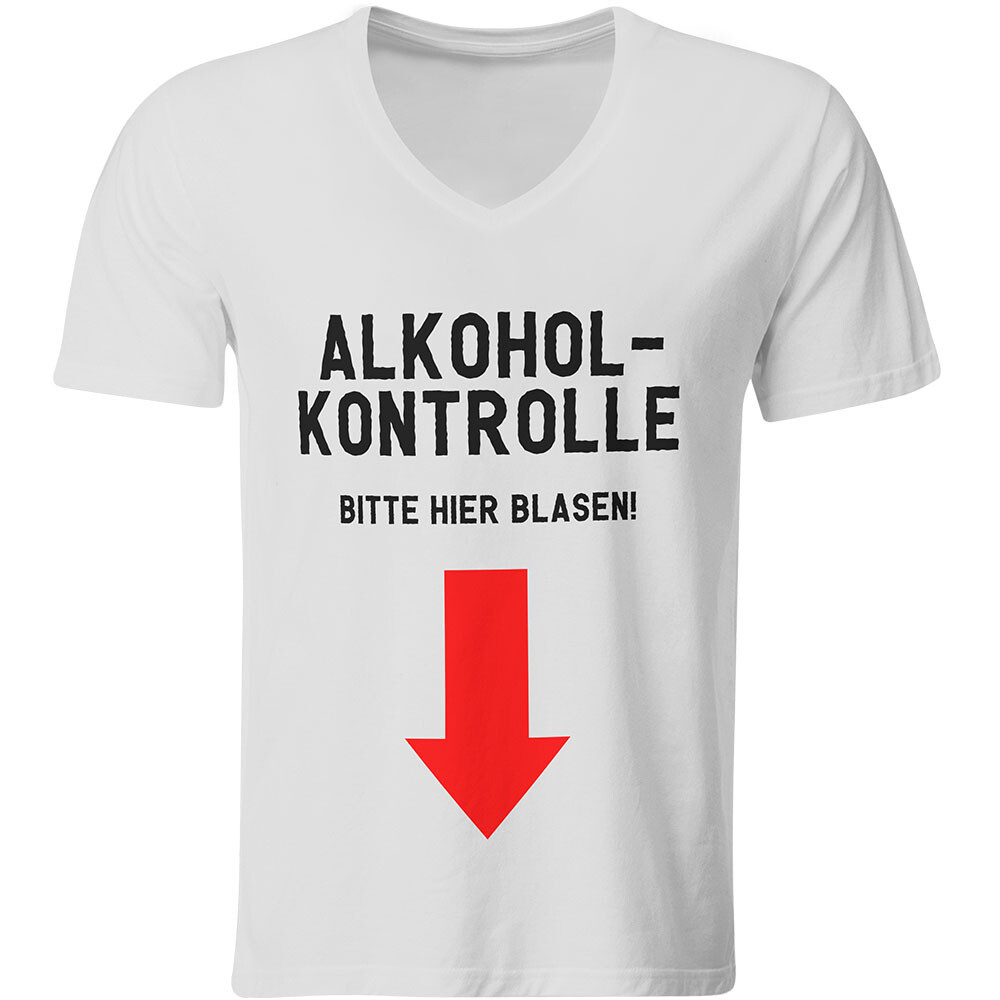 Alkoholkontrolle (Herren, V-Ausschnitt)