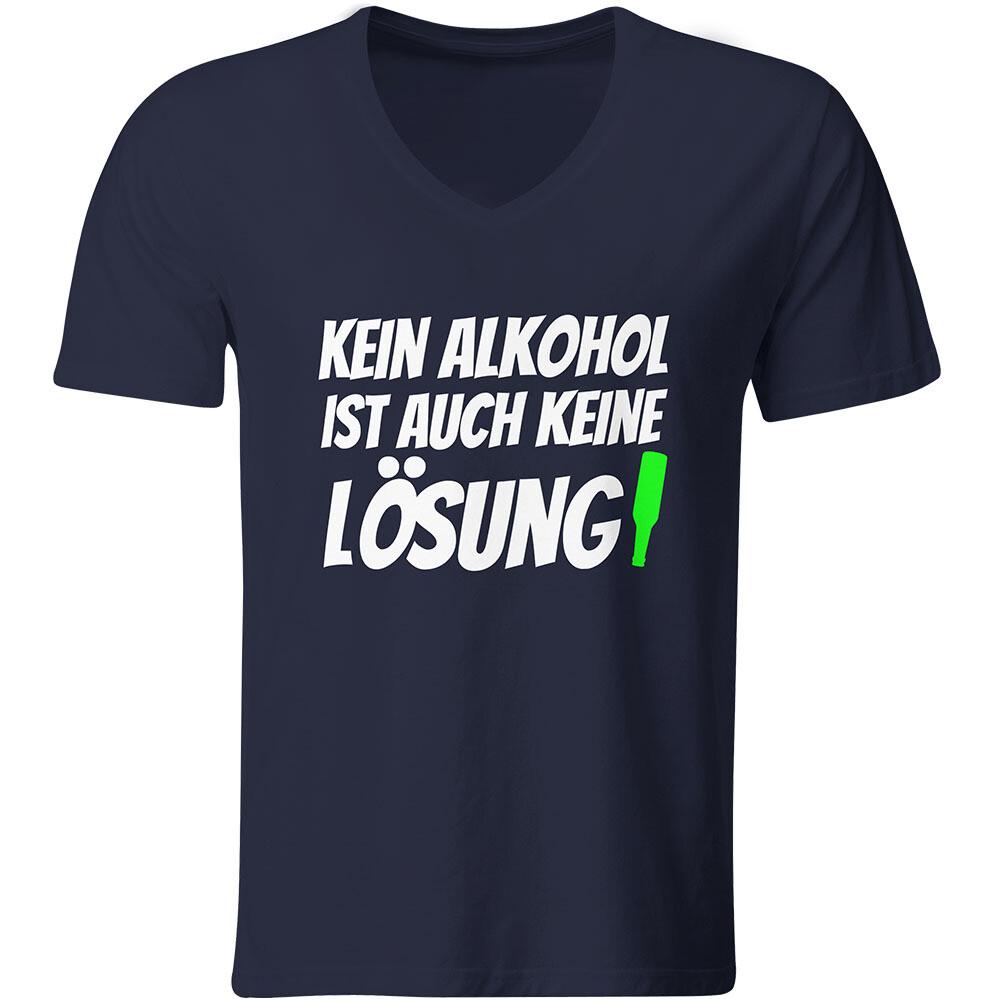Kein Alkohol ist auch keine Lösung T-Shirt (Herren, V-Ausschnitt)