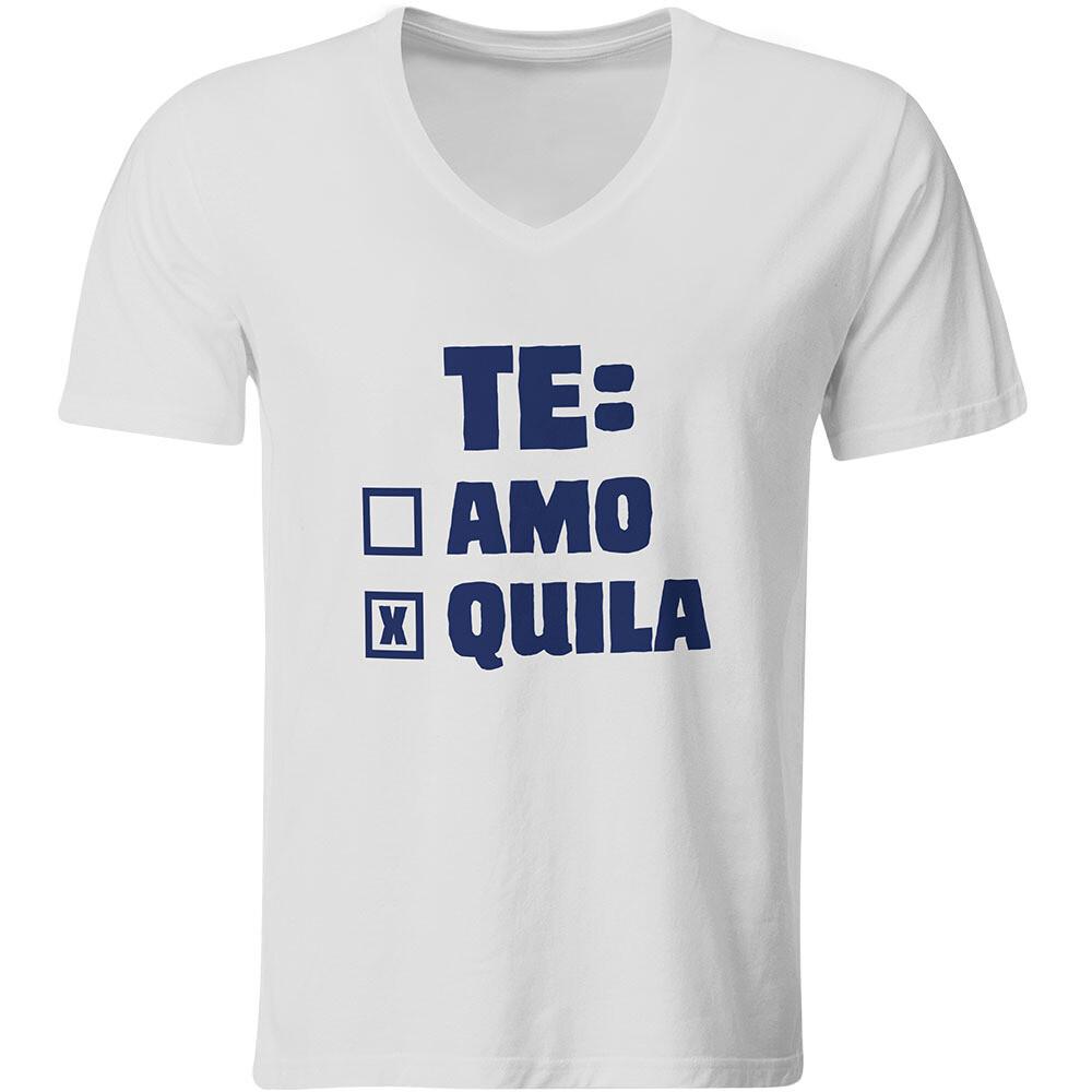 Te: amo – Tequila T-Shirt (Herren, V-Ausschnitt)