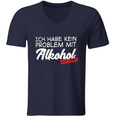 Ich habe kein Problem mit Alkohol – nur ohne! T-Shirt (Herren, V-Ausschnitt)
